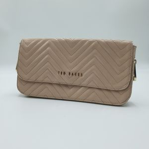 Ted Baker light nude pink patent leather clutch